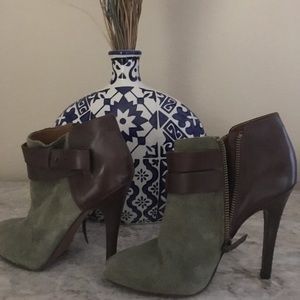 Nine West suede and leather booties